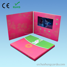 Hot sale pu leather 3gp video player with 800x480 mp4 videos
