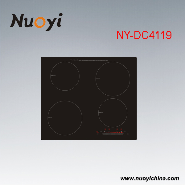 Build-in Type & Touching Switch Induction cooker with 4 Burners w/ GS/CE/RoHs/ERP/REACH/CB/CCC Certificate