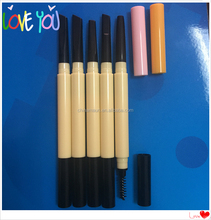 Double heads plastic cosmetic art eyebrow pencil