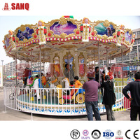 Kids Amusement Rides Luxury Merry Go Round Carousel For Sale