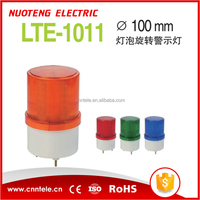 LTE-1011 red yellow green blue Bulb Rotating Warning light with buzzer