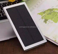 20000mAh Ultra Thin Super Slim Metal Solar Power Bank External Battery Pack Mobile USB Charger