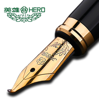 authentic standard type Hero frosted 6006 metal calligraphy pen art fountain pen iraurita ink pen 0.5mm /1.0mm gift box set