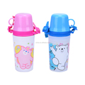 PP plastic material water bottle with cup for kids