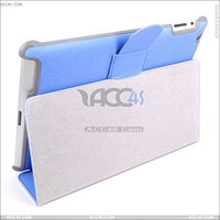 Ultra thin Sheepskin smart cover leather case for Ipad 2/3 --- P-iPAD3CASE033