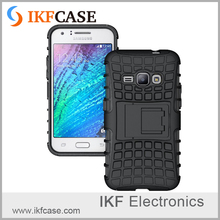 Wholesale Hybrid Kickstand Armor Cell Phone Case For Samsung Galaxy J1 2016 J120F Dual Layer Silicone+Hard Shell Cover Cases