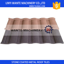 Easy installation stone coated metal roof tiles with nails and enviornmental friendly adhesive