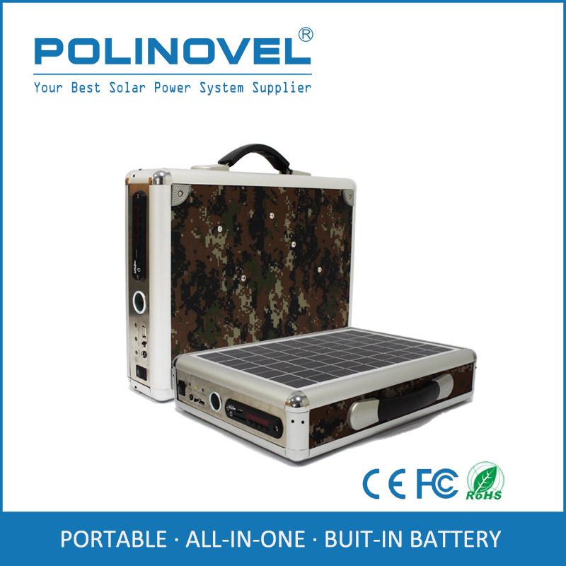 DC 12v 5v mobile laptop computer portable solar charger with solar radio