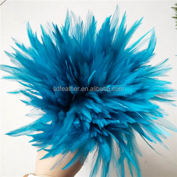 Hot sale Carnival Feathers! Colorful saddle strung chicken feathers for sale