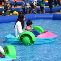 Hot sale kids animal inflatable electric kids paddle boat for kids and adult play