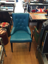 Classic leather armless dining chair Y960