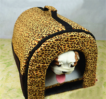 Fashion thick pet house for dogs cats with handle pet beds