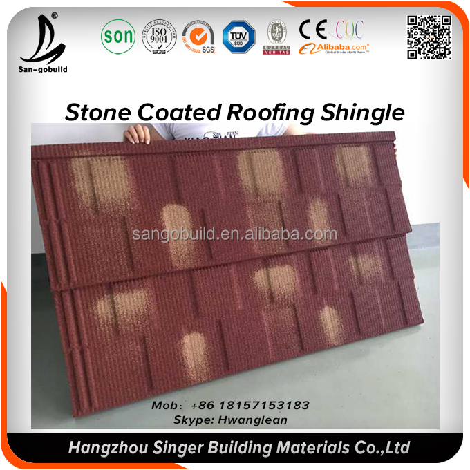 Roofing Material low price residential stone coated roof tile/clay tile/asphalt roofing shingle