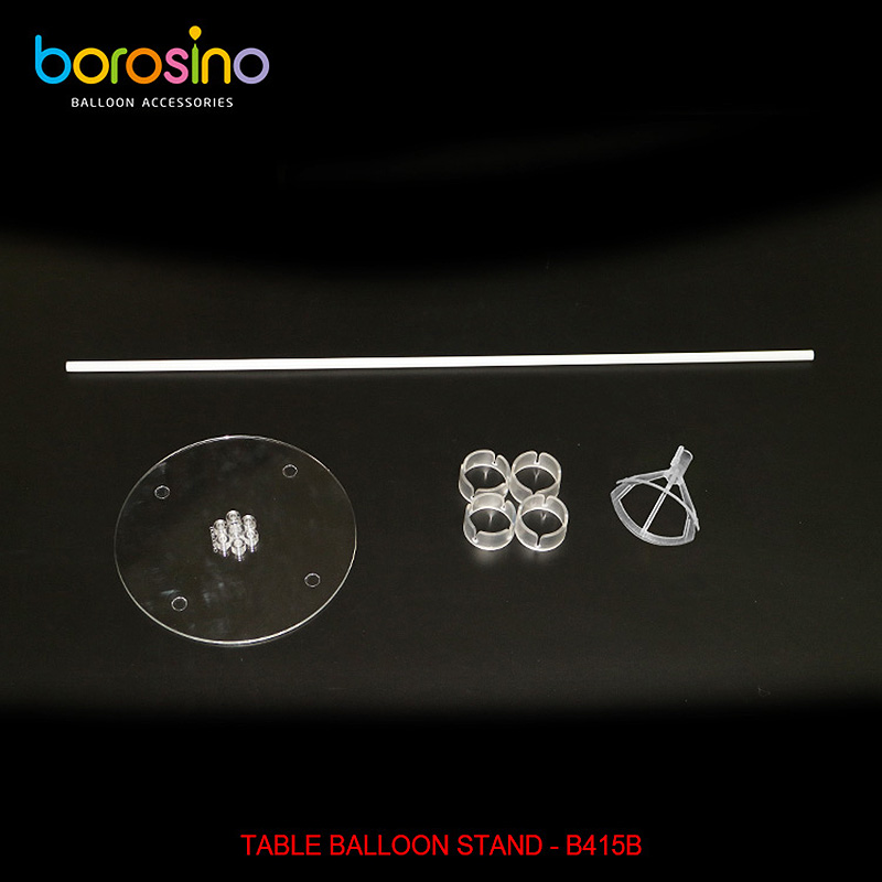 Balloon accessory Transparent Plastic Balloon Bouquet Table Balloon Stand
