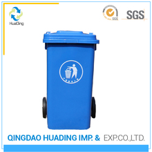 Best price mixed material 100l with wheels Made in china plastic trash bin