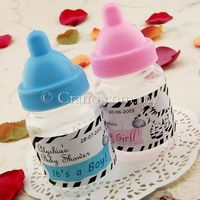Mini Baby Bottle Baby Shower Favors with Stickers