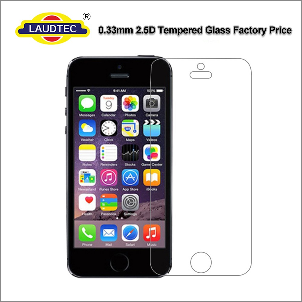 0.33mm 2.5D 9H Anti-shock Tempered Glass Screen Protector For iphone 5