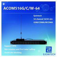 HOT SALE! Ejoin ACOM516-64 goip gateway , 16 channels 64 sim voip gsm gateway support voip vouchers and voip credit