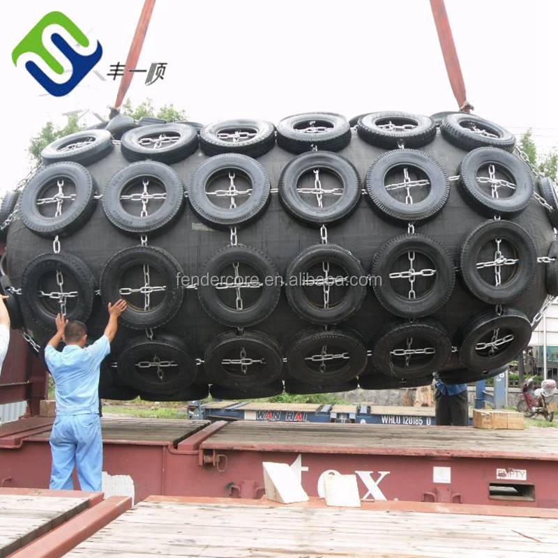 Yokoahama type Floating pneumatic rubber fenders for ship to ship