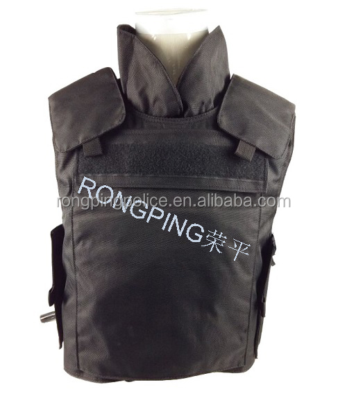 Military tactical bulletproof vest with collar