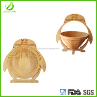 penguin shape bamboo kitchen basket price cheap for fruit