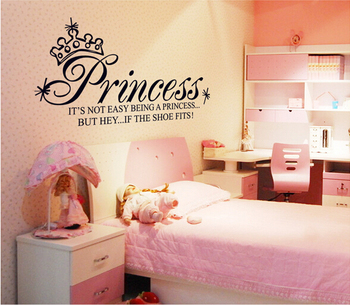 Kids Princess Wall Stickers Decal For Girls Rooms Home Decor Wallpaper