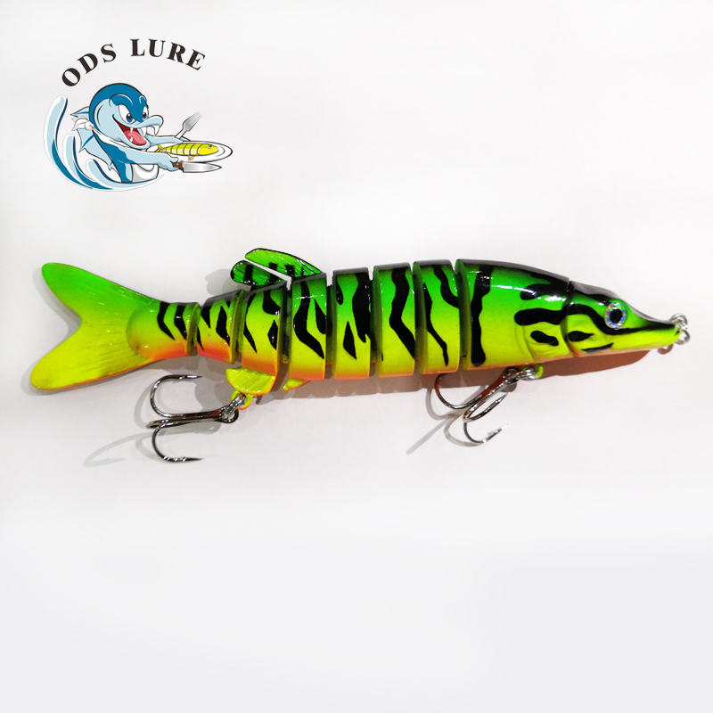 High quality <strong>fishing</strong> lure 9 section swimbait 5inch small pike lure
