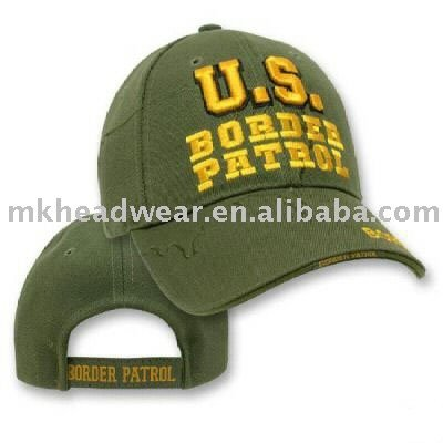 Cool six panel sport cap with embroidery logo on front and back