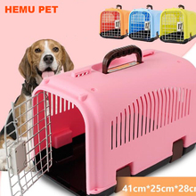 2017 hemu wholesale mix color rolling plastic airline approved wire door travel pet crate