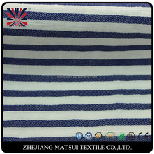 OEM yarn dyed cotton stripe fabric with black and white for shirt