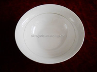 restaurant white body porcelain soup bowls