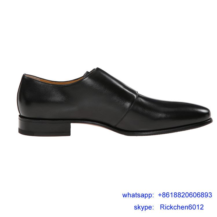 Fashion Men' Buckle Pointed Toe Dress Leather Shoes