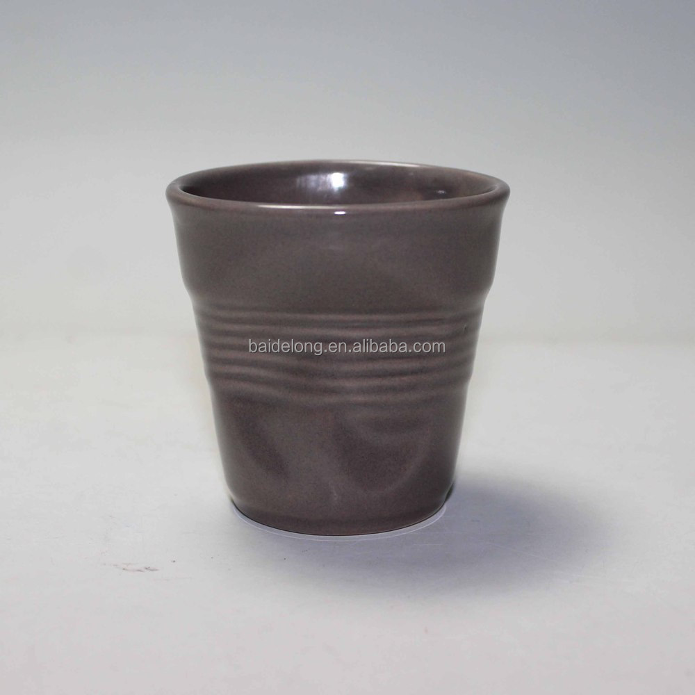 Ceramic Crumple Cup