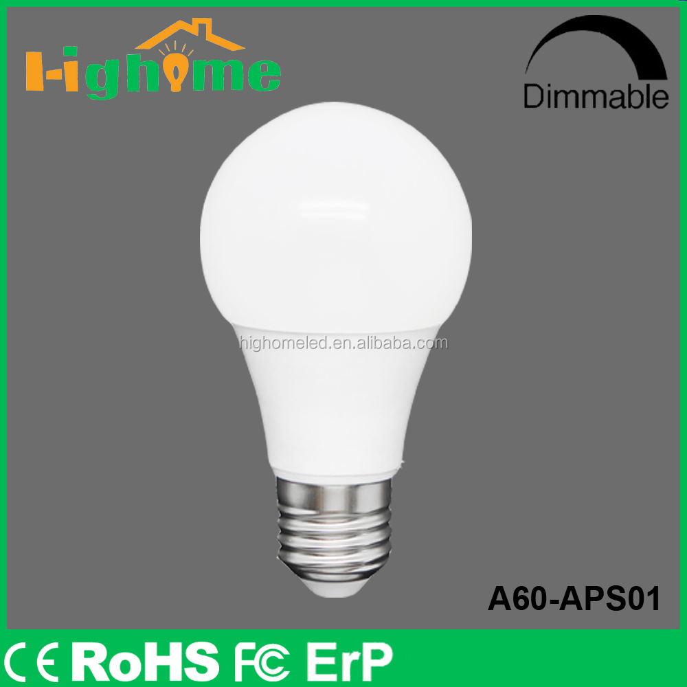 No UV A60 5w 6w 7w e27 LED bulb