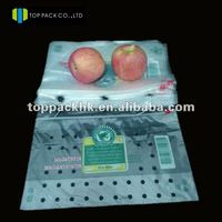 mesh PE bag fruit baggies with hole/recyclable fruit packaging bags with zipper