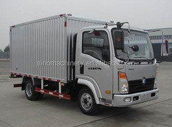 Manufacturer SINOTRUK CDW used box truck to europe for sale
