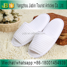 Hot Selling Open Toe White Men Hotel Spa Waffle Slippers