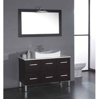 China Oak Wood Bathroom Mirror Vanity Cabinet