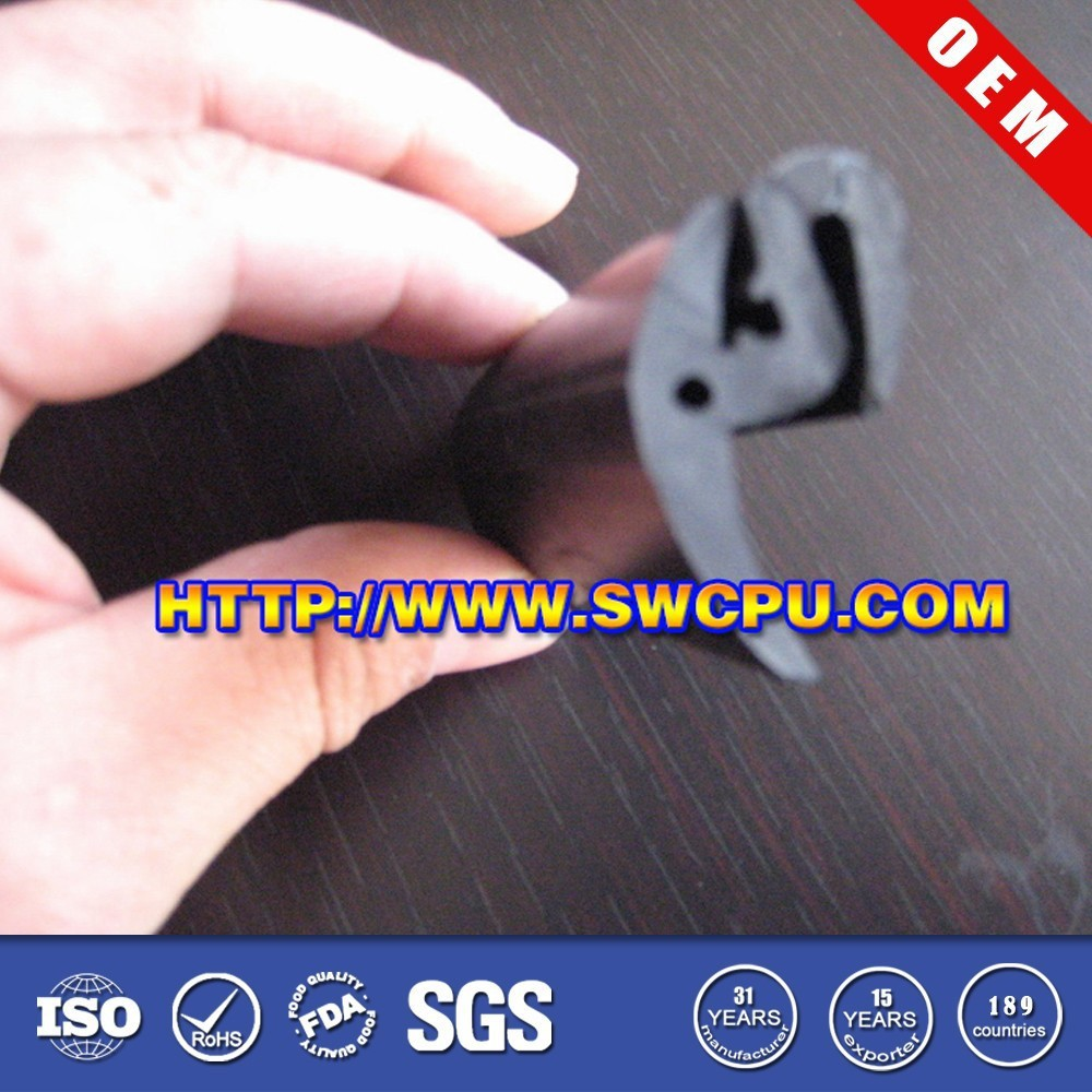 Custom extrusion profile protective flexible rubber car edge trim