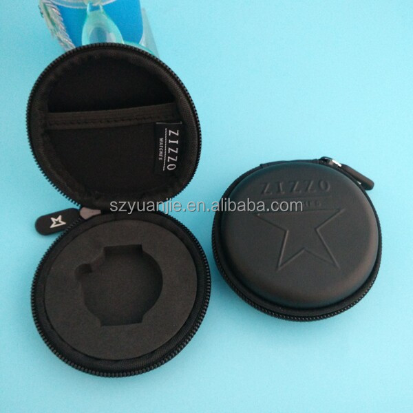 portable leather flat watch case