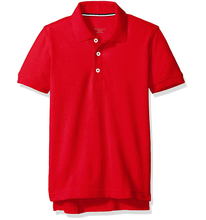 custom-fit 60% cotton 40% polyester school uniform polo shirts Boys' Short Sleeve Pique Polo shirts