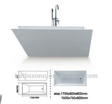 Free standing acrylic bath tub,New style acrylic bathtub BS-6207