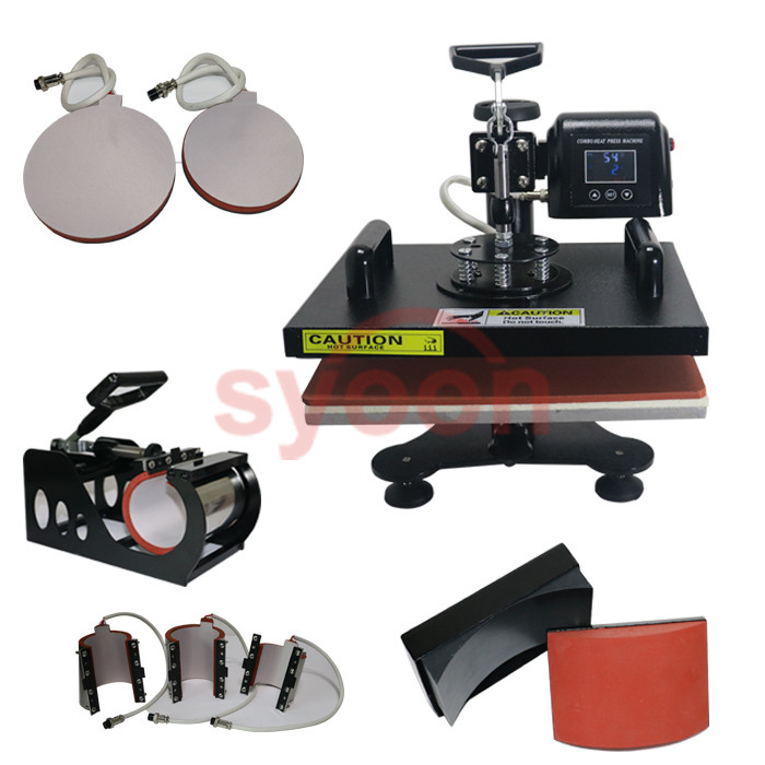 CE Approved LCD 8in 1 Multifunction Combo Heat Press Machine Printing Machine