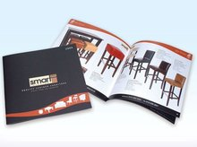 Saddle stitching A4 offset popular design printing catalogs