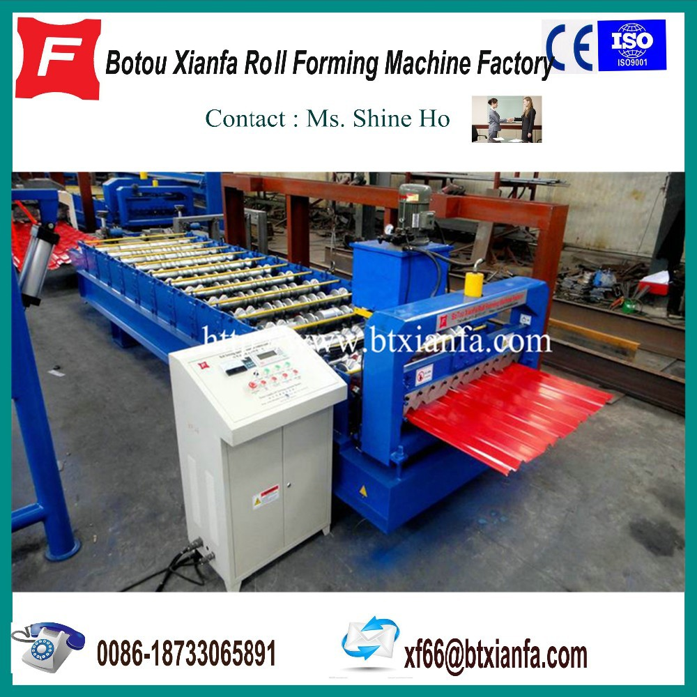 Roofing Metal Roof Panels Through Fastened roll forming machine