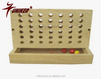 funny wooden bingo game for kinds, four in a row intelligence game