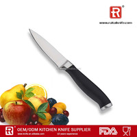 3.5 inch silicone soft touch forge handle paring knife