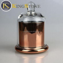 Candles Featuring Stunning Glass Dome Lids Available in Black, Silver or Copper Glass