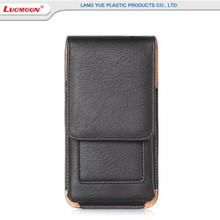 Free sample pu leather mobile phone pouch for Iphone 6/6s/7 plus credit card holder belt clip flip bumper cover cases