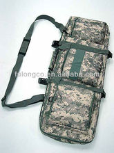 2014 Wholesale new designer tweed canvas with genuine leather rifle gun bags /slips for hunting